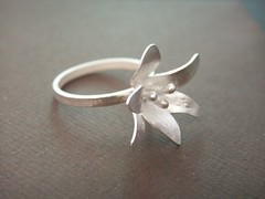 Sterling Silver Lily Ring (bbel-uk) Tags: flower nature silver spring jewelry jewellery springtime bbel