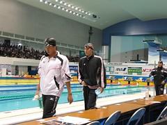 男子50m平泳ぎで日本記録を更新した立石諒選手