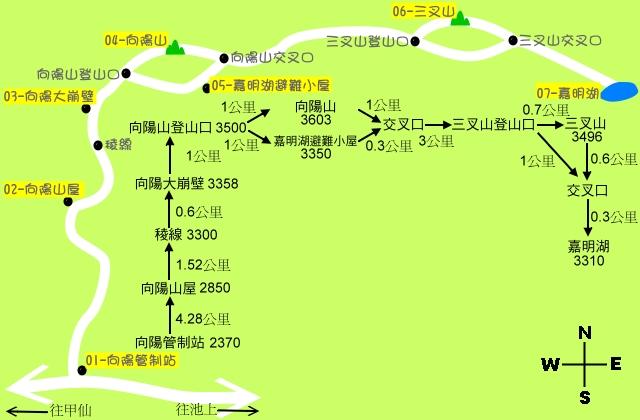 嘉明湖map