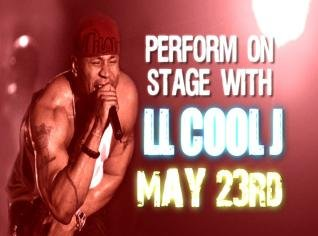 Perform on stage with LL Cool J on May 23rd
