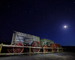 1889 Moonset (Forget Me Knott Photography) Tags: california park light sky moon night painting stars wagon death team mine long exposure glow desert crescent national moonrise valley 20 moonset mule borax brianknott forgetmeknottphotography fmkphoto