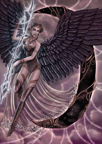 Purple Angel by Agnieszka Miroslaw