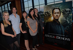 Bloomhill Angels and Demons Movie night team, Chloe, James, Gigi, Jacinta & Michelle