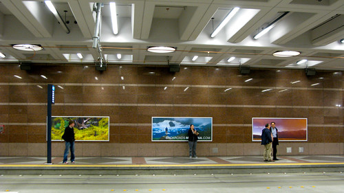 Montana Backroads billboards in Pioneer Square station