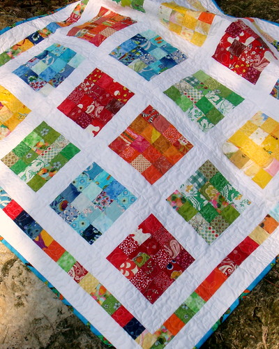boy/girl crayon quilt