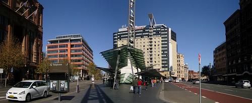 Sydney 每天必經的中央廣場