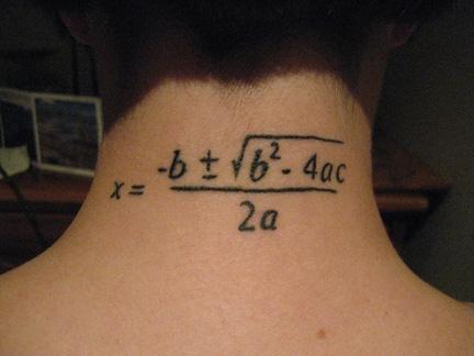 Tatuajes matemáticos