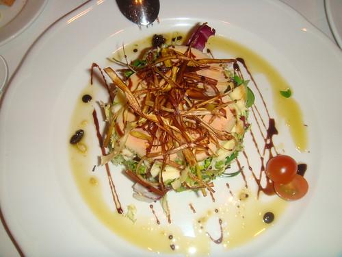 Ensalada de Foie con Vinagreta de Pasas y Chardonnay