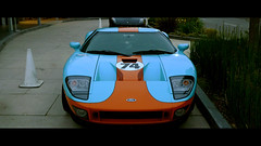 ford gt heritage edition (lazybone cafe) Tags: blue orange baby black heritage ford sports car race 40th losangeles cafe paint gulf flat anniversary widescreen wheels stripe 2006 powder racing number exotic faded mans burnt le american oil gt satin limited edition matte lazybone gt40 hre livery 2351 2401 lazybonecafe