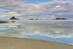 Infinity Pool (PatrickSmithPhotography) Tags: ocean california longexposure travel sunset sea wallpaper sky seascape reflection beach nature water rock canon landscape island humboldt interestingness sand wave trinidad 5d lowtide eureka moonstonebeach mkii grandmotherrock ndx400
