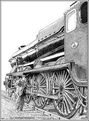 THE PRIDE OF EASTLEIGH (Norfolkboy1) Tags: england pen ink hampshire stipple 1926 rapidograph maunsell southernrailway pointillism lordnelson steamlocomotive 460 originaldrawing eastleighworks no850 br30850 panthonybromage