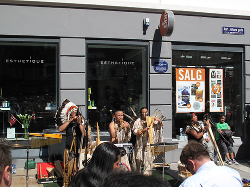 American indians performing in Oslo 17th of May