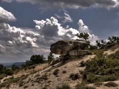 Les Mourres, Forcalquiers HDR (Nicolas Karasiak) Tags: nature stone clouds raw hdr citadelle forcalquier mourres