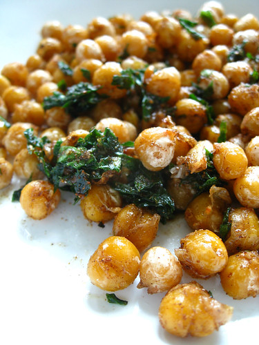 spiced pan fried chickpeas