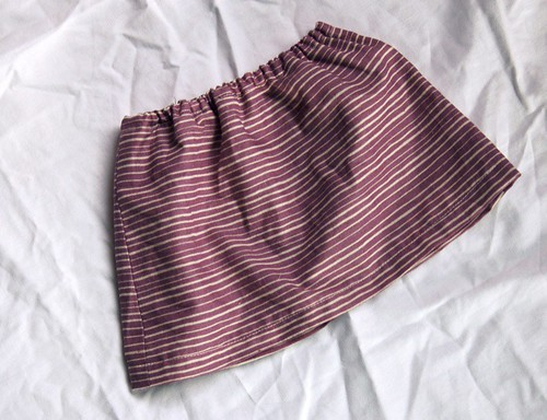purple stripe skirt