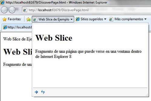 Web Slice básico