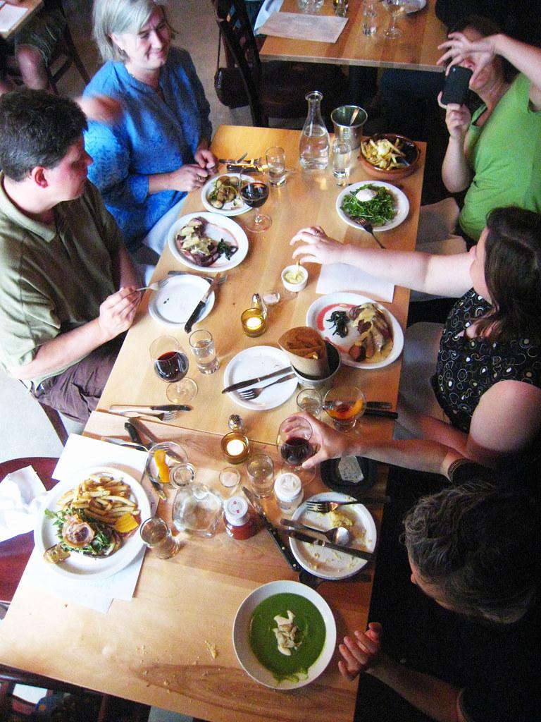 Laurelhurst Market Dining Table Aerial