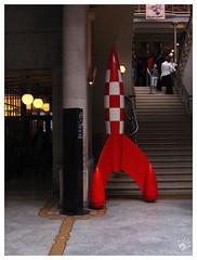 Red Rocket (codespoti) Tags: brussels belgium belgique bruxelles rocket tintin bruxelas blgica foguete tintim brusselscapitalregion rumoalua explorandoalua tintinetlalune