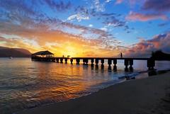 Hanalei Pier Kauai (mojo2u) Tags: ocean sunset hawaii pier hanaleipier 1001nights hdr hanalei hanaleibay sigma1020mm photomatix nikond80 alemdagqualityonlyclub