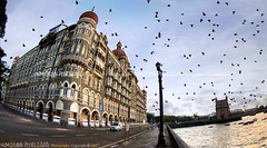 The Taj Mahal Palace & The Gateway of India, Mumbai - India (Humayunn N A Peerzaada) Tags: morning india lens gold hotel golden model photographer pigeon pigeons taj mahal palace fisheye tokina actor maharashtra mumbai gatewayofindia the humayun d90 tokinalens peerzada thegatewayofindia tokinafisheye nikond90 humayunn peerzaada humayoon wwwhumayooncom opollobunder humayunnapeerzaada tokinafisheyelens nikond90clubasia humayunnnapeezaada 10to17mmf3545 thetajmahalpalacehotel