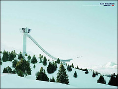 Affiche Air France Neige Ski