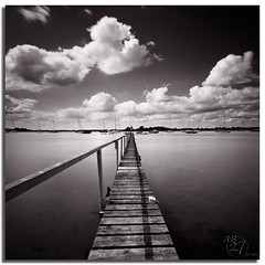 Hot of the press! (Aaron_Bennett) Tags: uk longexposure sea sky blackandwhite art monochrome clouds boats photography bosham moody jetty sigma1020mm aaronbennett 10stops vertorama nikond300 110nd