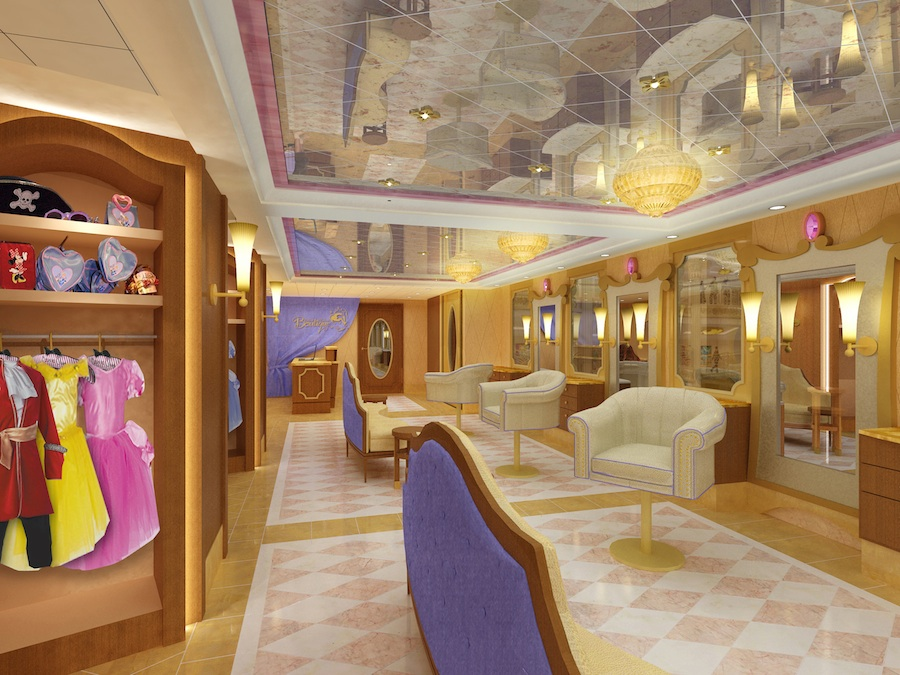 Young cruisers can enjoy magical makeovers at Bibbidi Bobbidi Boutique on the Disney Fantasy.