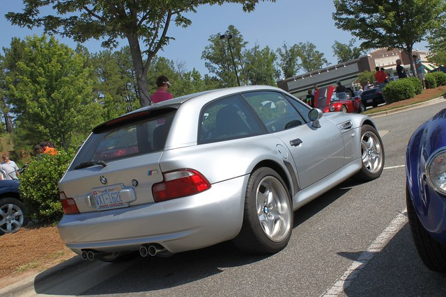 S52B32 M Coupe | Arctic Silver | Black | Raleigh Cars & Coffee