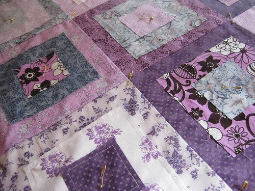 Ragged Squares Quilt Pinning 3