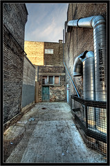 Clarence Alley (Scott.Webb) Tags: city urban ontario canada london photography alley nikon downtown grunge dslr hdr highdynamicrange exhaust d300 urbanhdr