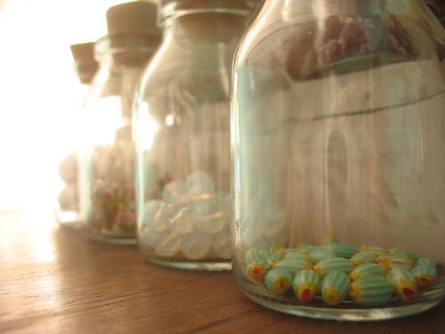 Beads in bottles