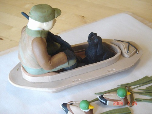 Duck hunting cake topper