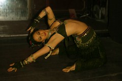 Nomadic tribal (annamarie504) Tags: dance costume women neworleans gothic goth tribal backbend flexible friday13th tribalbellydance dragonsdentribalbellydance