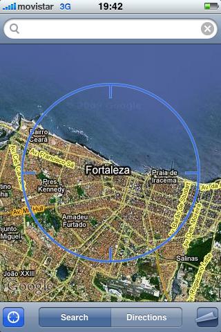 My iPhone thinks it's in Fortaleza, Brazil