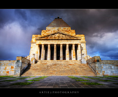 The Shrine of Remembrance, Melbourne (Revisited) :: HDR (:: Artie | Photography ::) Tags: classic stone architecture photoshop canon memorial shrine cs2 pillar australia melbourne wideangle victoria symmetry historic handheld remembrance 1020mm warmemorial hdr xoxo buillding artie shrineofremembrance 3xp sigmalens photomatix tonemapping tonemap 400d rebelxti