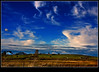 Bay of Fundy farm (Dave the Haligonian) Tags: sky copyright cloud canada grass fence cow novascotia wind farm bayoffundy hay bovine grandpré img0382jpg davidsaunders vosplusbellesphotos davethehaligonian bayoffundyfarm
