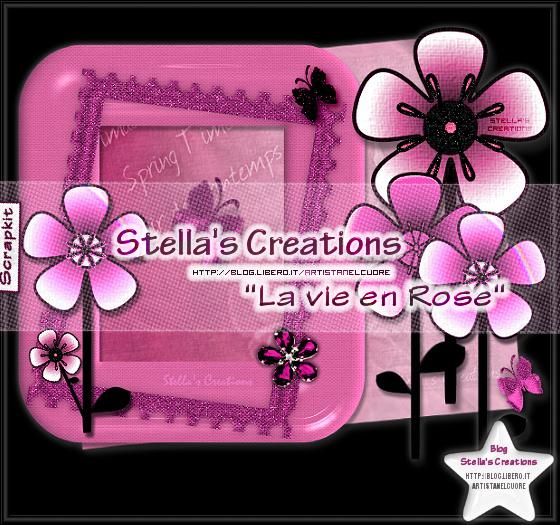 La vie en rose - Blog Stella's Creations - http://sc-artistanelcuore.blogspot.com