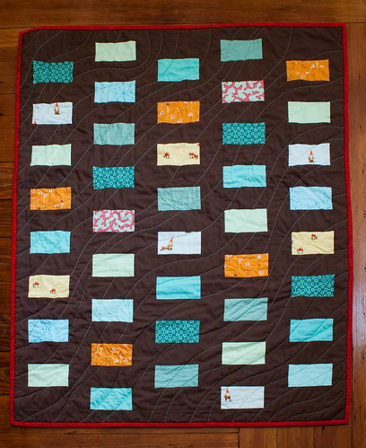 Gnome coin quilt finished