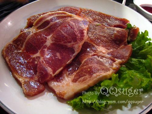 你拍攝的 豬肉。