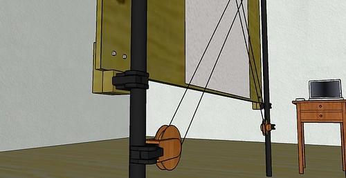 4 plywood mounting - closeup