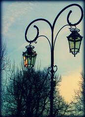 luci di Cavour (.pemetecukor.) Tags: blue trees italy alberi torino italia blu cielo luci piazza turin luce g lampada giardini cavour lume kk fk oszlop lmpaoszlop giardinidicavour