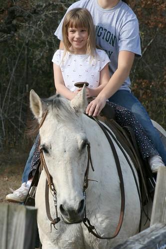 Cassie On Horse 1