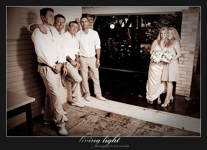 More bridal party. Wedding photography from Tea Gardens.