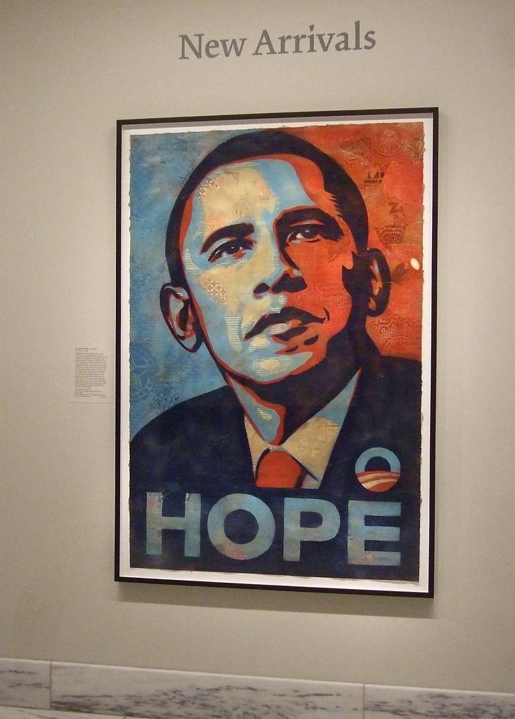 Poster of Barack Obama by Shephard Fairey (2008)