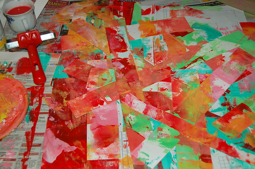 Brayer experimenting (copyright Hanna Andersson)