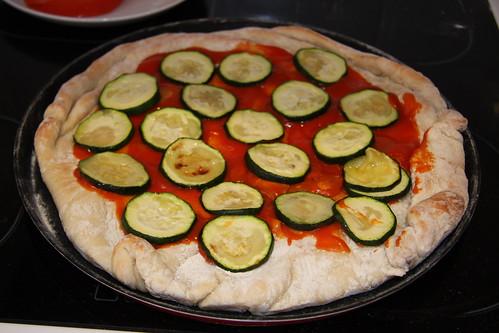 Zucchini on Pizza