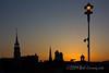 Sunset on the Spires (gotbob) Tags: blue sunset orange silhouette canon purple spires maryland frederick slidr