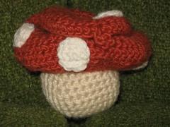 Crochet Mushroom House