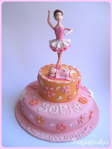 Torta ballerina con bebe / Ballerina and Baby Cake