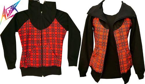 hoodie escoces rojo  hoodie escocés Colección Otoño Invierno 2009 moda argentina independiente diseñador 2009